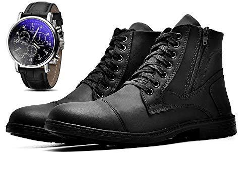 Bota Coturno Com Relógio Masculino JUILLI Adventure R501DB Tamanho:44;cor:Preto;gênero:Masculino