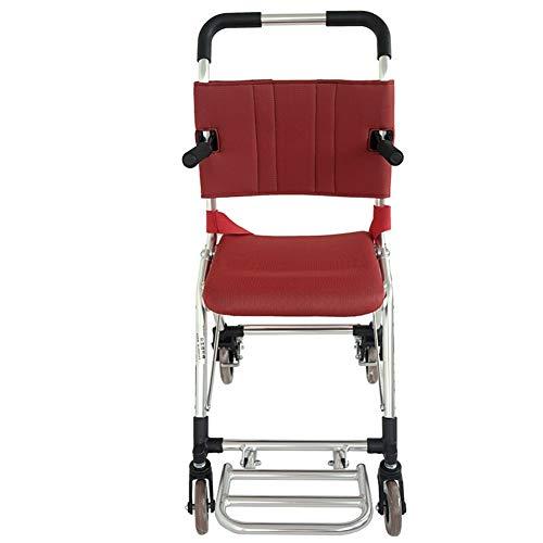 Rolstoel aluminium rolstoel met eigen aandrijving, stabiele holle binnenband van rubber, beschermt de veiligheid van de bestuurder, zitbreedte 34,5 cm, inklapbare grootte 63 x 43 x 40 cm, geschikt voor oudere mensen