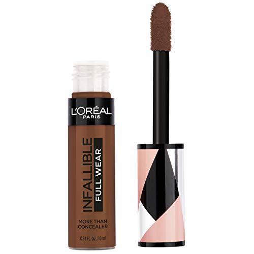 L'Oréal Paris Makeup Infallible Full Wear Concealer, Full Coverage, EXTRA LARGE Applicator, Waterproof, Multi-Use Concealer to Shape, Cover, Contour & Sculpt, Matte Finish, Espresso, 0.33 fl. oz.