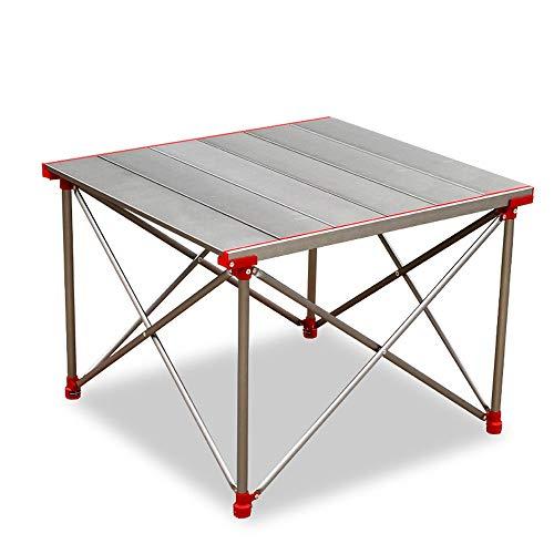 WPCBAA aluminium legering premium campingtafel, draagbare klaptafel, lichtgewicht & rugzak, geschikt voor eten & koken, wandelen, kamperen, picknick, strand klaptafel in de buitenlucht
