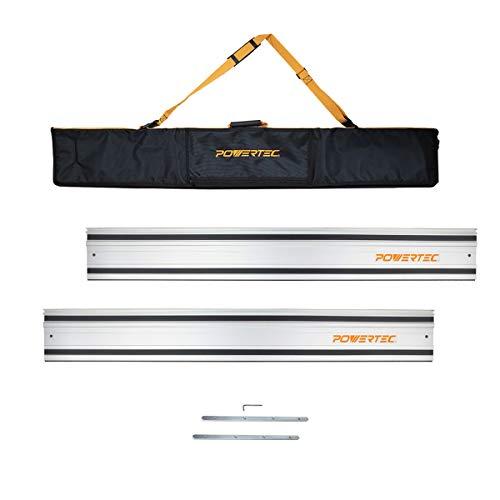 POWERTEC 71550 Track Saw Guide Rail Kit w/Two Guide Rails/Protective Guide Rail Bag/Rail Connectors