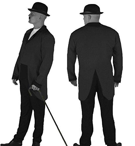 The Dragons Den Charlie Chaplin - Disfraz de estrella de pelcula silenciosa [L/XL]