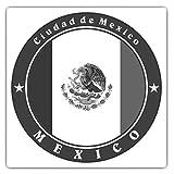 Pegatinas cuadradas de 10 cm BW – Ciudad de México DF – Divertidas calcomanías para portátiles, tabletas, equipaje, reserva de chatarras, frigoríficos, regalo fresco #41858