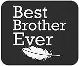 Bruder Mousepad Schwester Mauspad - Bester Bruder aller Zeiten Cooles Geburtstagsgeschenk Kleid für stolze Geschwister Büro Leinwand Schwarz Büro Poster Mauspad Mauspad
