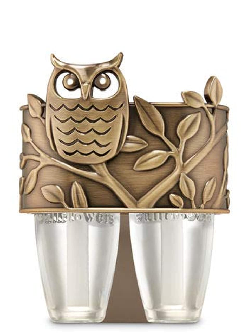 賞賛混乱させる迷信【Bath&Body Works/バス&ボディワークス】 ルームフレグランス プラグインスターター デュオプラグ (本体のみ) オウル フクロウ Scent Switching Wallflowers Duo Plug Owl [並行輸入品]