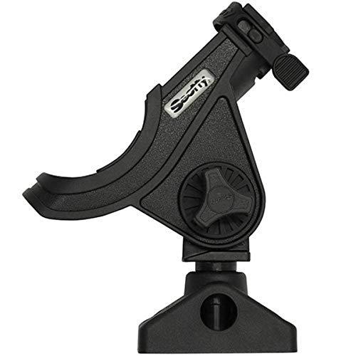 Scotty #280-BK Baitcaster/ Spinning Rod Holder w/ #241 Side Deck Mount (Black)