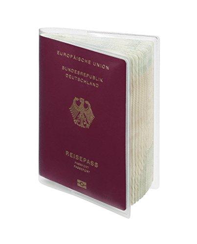 Durable 214319 Schutzhülle (für Reisepässe, ab März 2017) 10 Stück transparent