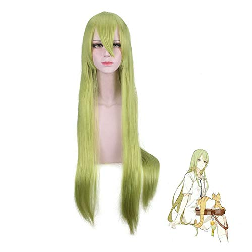 Fate/Grand Order Lancer Enkidu cosplay peluca verde 100 CM Enkidu larga recta verde Fiesta de cabello sinttico pelucas de cosplay comunes Fate Grand Order Enkidu peluca 099-41