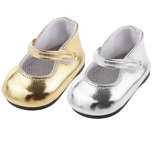 Toygogo Scarpe da Bambola alla Moda con Cinturino alla Caviglia Accessori per Scarpe, Scarpe da 18 Pollici, 2 Paia