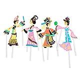 TOYANDONA 4pcs Juguete de títeres de Sombra Cultura Tradicional China DIY artesanía Juguetes