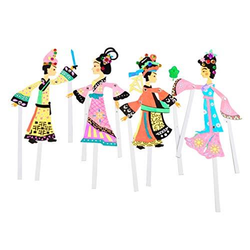 TOYANDONA 4pcs Juguete de títeres de Sombra Cultura Tradici