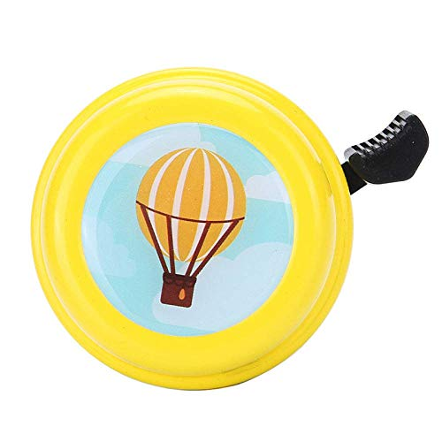 Jsmhh Fahrradklingel Fahrradklingel, Personalisierte Gelb Luftballon Printed Glocken, Fahrradglocken for Erwachsene und Kinder, Crisp Lautes Wohlklang, Mountain Bike Bell Rennrad Bell-Fahrrad-Zubehör