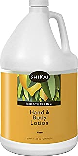 Shikai - Natural Moisturizing Hand & Body Lotion, Softens & Moisturizes Skin with Aloe Vera, Borage Oil & Shea Butter, Sensually Smooth Skin with Delicious Fragrances (Yuzu, 1 Gallon)