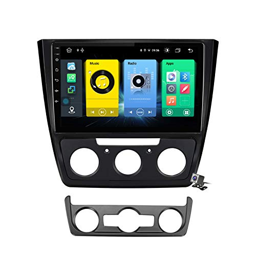 Buladala Android 9.1 GPS Navigation Stereo Radio para Skoda Yeti 5L 2009-2014, 10,1' Pantalla Coche Media Player Soporte Carpaly/5G FM RDS/Control Volante/Bluetooth Hands-Free,7862: 6+128