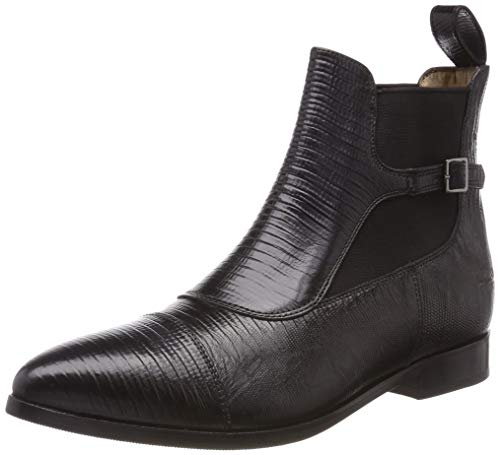 Melvin & Hamilton Damen Jessy 10 Chelsea Boots, Schwarz (Crust Guana Black/Ela.Black/hRS), 40 EU