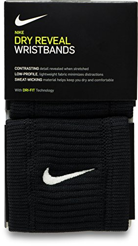 Nike Dri-Fit Reveal Wristbands black/dark grey/white