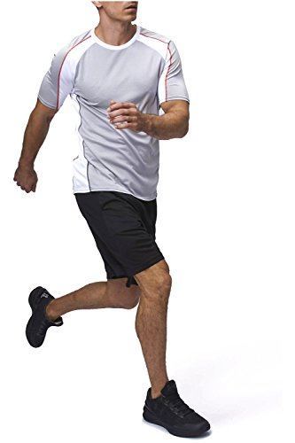 Sundried Herren Athletic Sport Top Fitness-Studio T-Shirt Fitness Bekleidung (Large)