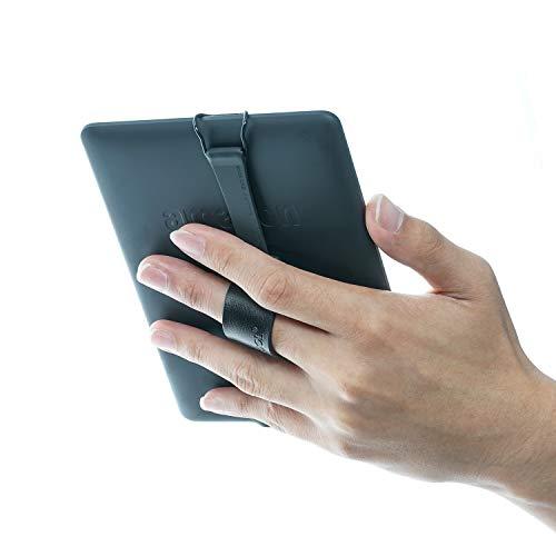 WANPOOL手の滑りを防止する電子書籍ビューワー手持ちスタンドは、Kindle/Paperwhite/Voyage/Oasis/Fire HD 6などに適用できます (ブラック)