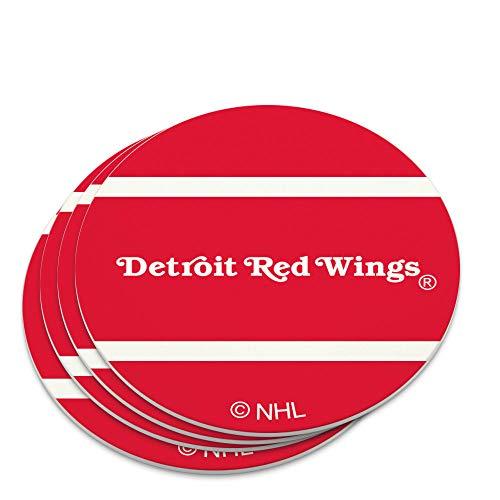 NHL Detroit Juego de posavasos con logotipo de alas rojas