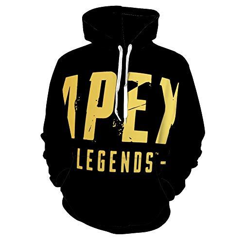 エーペックス レジェンズ Apex Legends (1) パーカー スウェット メンズ スフード付 プルオーバー スウェットシャツ カットソー アウトドアー カジュアル ゆったり 柔らか おしゃれ 前後ろプリント 上着 春秋冬服 男女兼用 XL