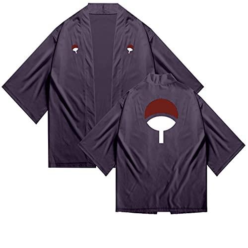 Anime Naruto Uchiha Sasuke Kimono Cosplay disfraz Harajuku Streetwear pijama ropa de dormir blusa camisa adolescentes hombre / mujer Cosplay uniforme pijamas vestido elegante