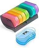 Tablettenbox 7 Tage - BUG HULL Kleine Medikamentenbox Pillendose 7 Tage