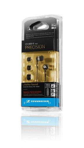 Sennheiser CX 400-II Precision Stereo-In-Ear-Kopfhörer (1,2 m Kabellänge, 3,5 mm Klinkenstecker, Earadapterset S/M/L, Tragetasche) schwarz