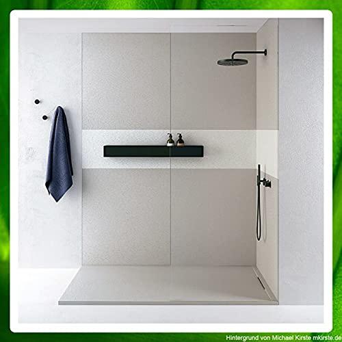 fugenlose Wandverkleidung für Dusche und Bad - verschiedene farbige Oberflächen Oberflächenstruktur Spachtelputz, Breite 100 cm, Farbe Wenge