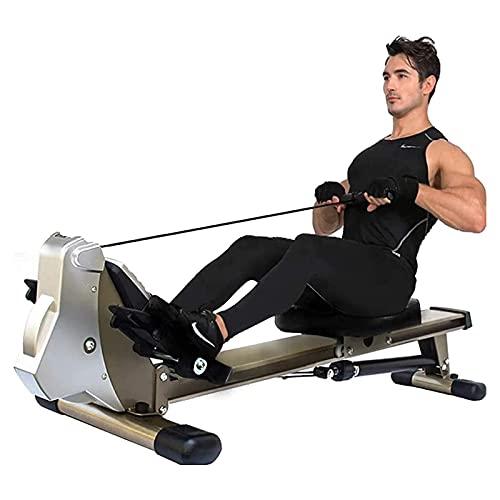 Máquina de Remo Plegable para el hogar - Sistema magnético 12 Niveles de Resistencia Ahorra Espacio Ideal para Fitness, Entrenamiento Carga máxima: 660lbs