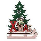 STOBOK Babbo Natale tavolo in legno natale renne slitta decorazione mini ornamenti in legno vacanze di natale desktop contatore decorazioni decori