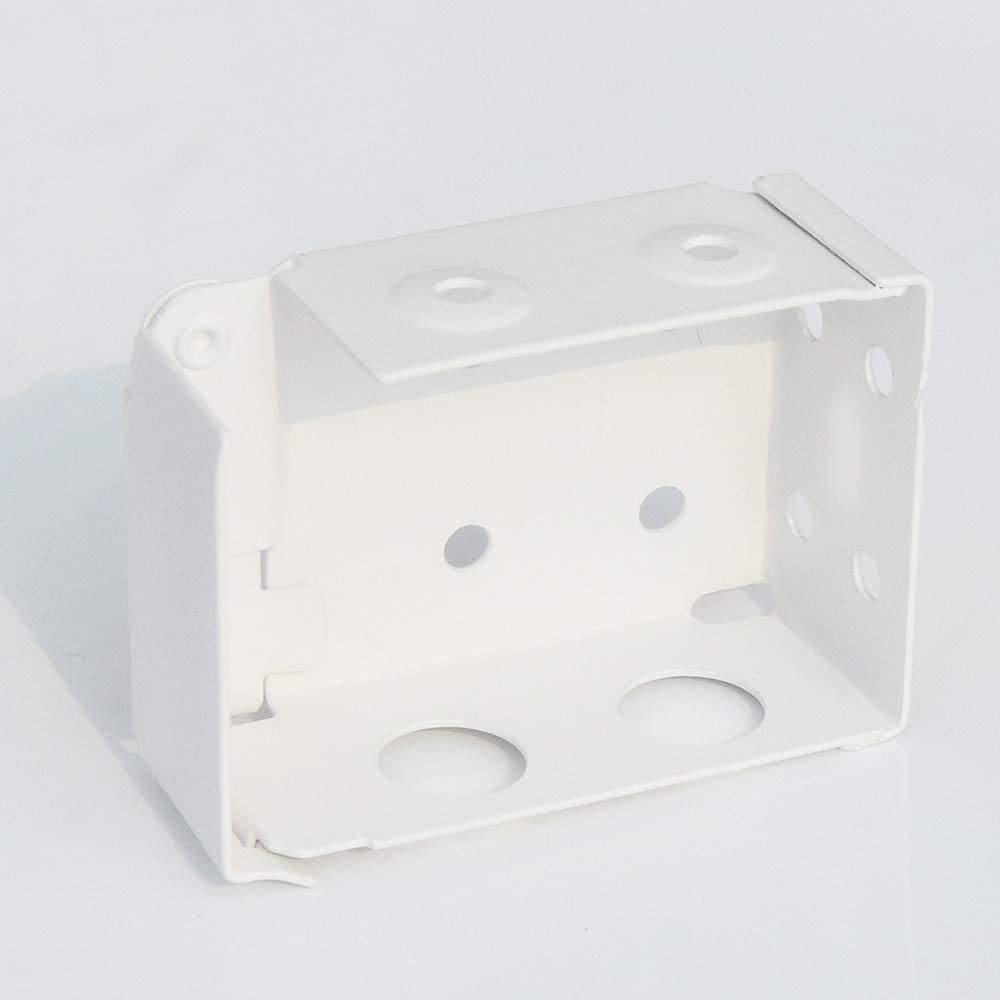 cuteLEC Box Mounting Bracket for Low Profile Blinds 2inch White Color Window Blinds Headrail Bracket