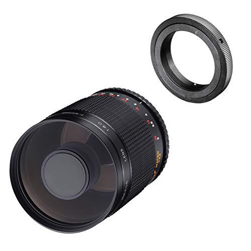 Samyang MF 500mm F8.0 Spiegelobjektiv Nikon F – DSLR, CSC Teleobjektiv, manueller Fokus, Filterdurchmesser 72mm, für Vollformat und APS-C