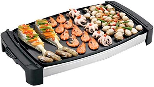 Parrilla eléctrica portátil, Parrilla eléctrica HOTAR BBQ Hotpot Multifuncional Non-Stick Grills Asar...