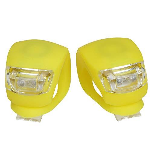 DW007 LED Sicherheitslicht wasserdichte Ultra Bright Blinklicht Taschenlampe Fahrräder Am Rucksack Befestigt,Gelb