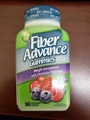 Fiber Advance Gummies Weight Management, 6G Fiber, 90 Gummies