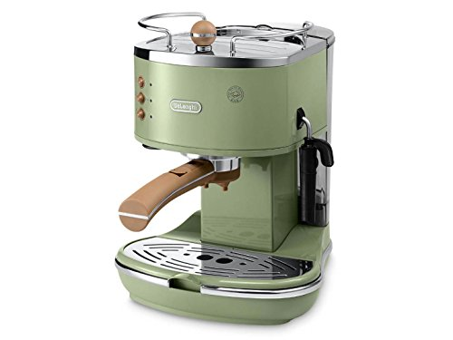 De'Longhi Icona Vintage ECOV311.GR Macchina da Caffè Espresso Manuale e Cappuccino, Caffè in Polvere o in Cialde E.S.E., 1100 W, Verde