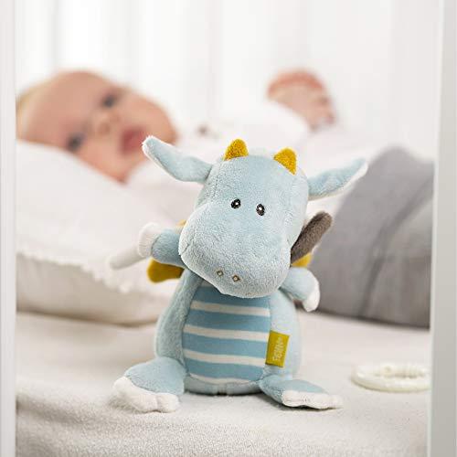Fehn 065015 Spieluhr Drache/Kuscheltier mit integriertem Spielwerk mit sanfter Melodie zum Aufhängen an Kinderwagen, Babyschale oder Bett, für Babys und Kleinkinder ab 0+ Monaten - 3