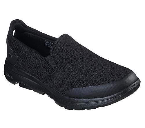 Skechers Men's Go Walk 5 Apprize Slip On Trainers, Black (Black Textile/Synthetic/Black Trim Bbk), 12 UK (47 EU)