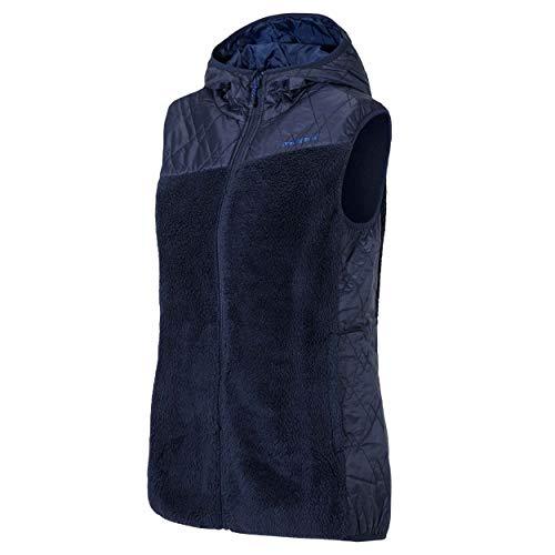 Ziener dames Teddy Fleece vest met capuchon Jarra donkerblauw 964 Gr.38 nieuw