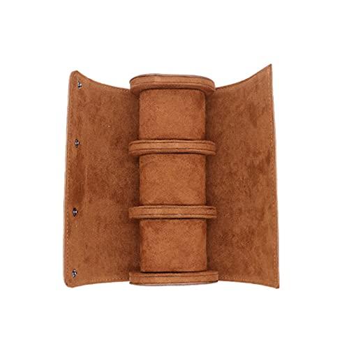 Xingang Reloj rollo de viaje caso de cuero reloj rollo caja reloj organizador para hombres