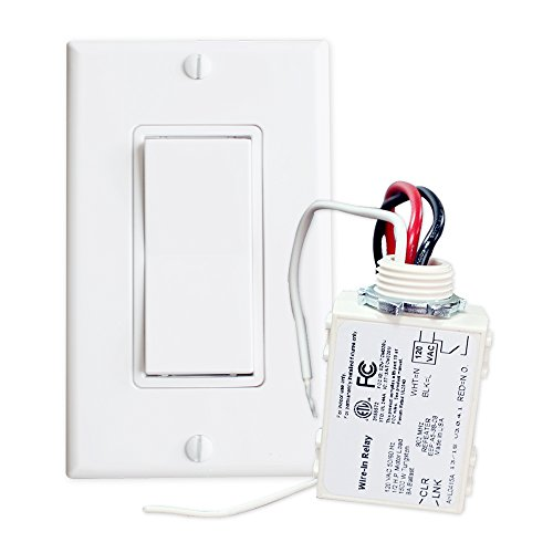 RunLessWire Simple Wireless Switch Kit, Self-Powered Rocker Switch, No Wire Light Control Kit