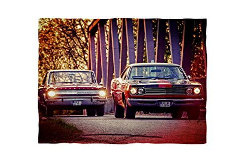 fotobar!style Fleecedecke klein ca. 135 x 100 cm US-Muscle-Cars