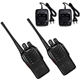 Tohlan NY-888S Rechargeable Walkie Talkies Long Range Portable Handheld Two Way Radio with LED Light, 2 Pack