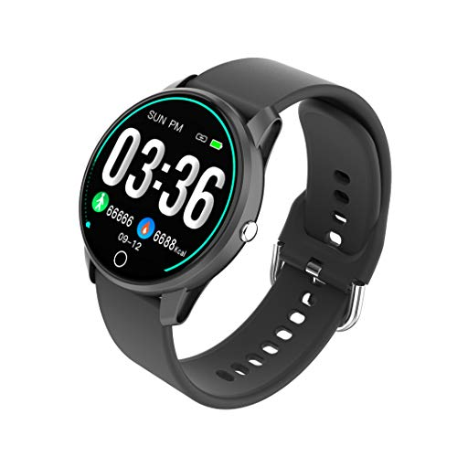 BIGCHINAMALL Relojes Inteligentes Pulsera Actividad Smartwatch Mujer (Negro)