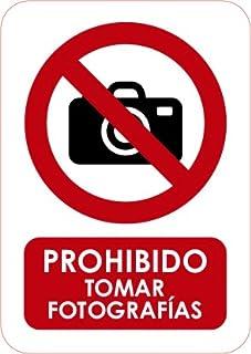 Oedim Señaletica de Prohibido Tomar fotografías 15x21cm | Material PVC Resistente | 3mm de Grosor
