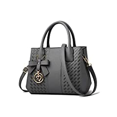 """Material: High quality PU leather with polyester lining , fashionable and durable. Dimensions : 10.2""""(L) * 3.9""""(W) * 7.9""""(H), height of handle: 3.9"""", suitable for you to carry it in daily-use. Structure: Two main compartments, a middle zipper pocket,..."""