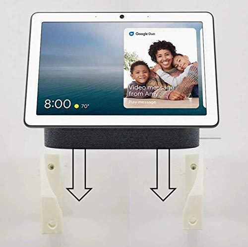 Google Nest Hub Max Soporte de pared para montaje en pared, 10 pulgadas Touchecreen (blanco)