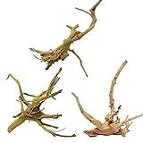 LTCTL 3 piezas de madera grande para acuario madera natural tronco reptil árbol de madera deriva acuario acuario tanque planta tocón adorno decoración, 15 - 34 cm