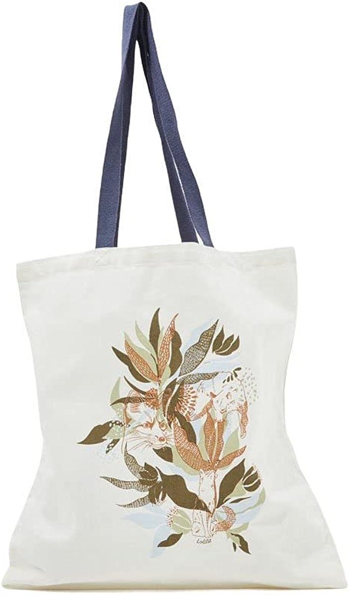 Leaves Canvas Tote Bag UNICO Off White