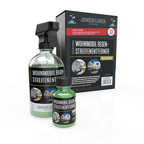 Greenpower Wohnmobil Regenstreifenentferner Vorteilspack für bis zu 3 Liter, entfernt mühelos Regenstreifen auch hartnäckige Verschmutzungen, Umweltschonend und biologisch abbaubar
